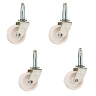 National Hardware S846-263 Stanley 1-5/8 Inch White Stem Caster 4 Pack