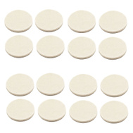 National Hardware S849-192 Stanley Flexi-Felt Heavy Duty Self Adhesive Felt Pads 1 Inch Round Oatmeal 16 Pack