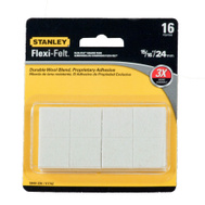 National Hardware S849-226 Stanley Flexi-Felt Heavy Duty Self Adhesive Felt Pads 15/16 Inch Square Oatmeal 16 Pack