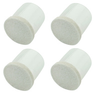 National Hardware S849-275 Stanley Flexi-Felt Leg Tips Clear 3/4 Inch Oatmeal 4 Pack