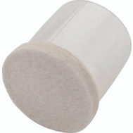 National Hardware S849-301 Stanley Flexi-Felt Leg Tips 1-3/8 Inch Clear Sides Oatmeal Felt 4 Pack