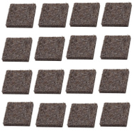National Hardware S849-222 Stanley Flexi-Felt Heavy Duty Self Adhesive Felt Pads 15/16 Inch Square Brown 16 Pack