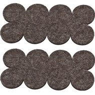 National Hardware S849-188 Stanley Flexi-Felt Heavy Duty Self Adhesive Felt Pads 1 Inch Round Brown 16 Pack