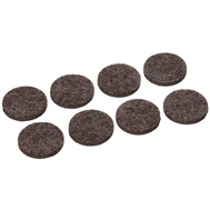 National Hardware S849-206 Stanley Flexi-Felt Heavy Duty Self Adhesive Felt Pads 1-1/2 Inch Round Brown 8 Pack