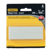 National Hardware S849-304 Stanley Flexi-Felt Heavy Duty Self Adhesive Felt Strips 3/4 Inch By 4 Inch Oatmeal 4 Pack