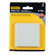 National Hardware S849-306 Stanley Flexi-Felt Heavy Duty Self Adhesive Felt Pads 3 Inch Square Oatmeal 2 Pack