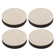 National Hardware S845-530 Stanley Self Leveling Felt Bottom Furniture Sliders 3-1/2 Inch Round Brown 4 Pack