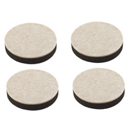 National Hardware S845-532 Stanley Self Leveling Felt Bottom Furniture Sliders 2-1/2 Inch Round Brown 4 Pack