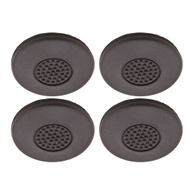 National Hardware S845-013 Stanley Anti Skid Self Adhesive Furniture Grips 2-1/2 Inch Round Molded Black Rubber 4 Pack