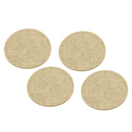 National Hardware S845-015 Stanley Heavy Duty Self Adhesive Felt Pads 3 Inch Round Oatmeal 4 Pack