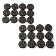 National Hardware S845-836 Stanley 1/2 Inch Self Adhesive Heavy Duty Floor Saver Grip Pads Black 24 Pack