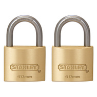 National Hardware S827-408 Stanley 1-9/16 Inch 40Mm Outdoor Standard Shackle Padlock 2 Pack