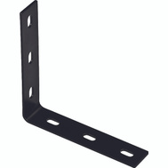 National Hardware N351-465 Corner Brace 7.1 By 1-1/2 By 1/8 Inch Black Finish Steel Bulk
