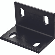 National Hardware N351-492 Wide Corner Brace 3 By 4.6 By 1/4 Inch Black Steel