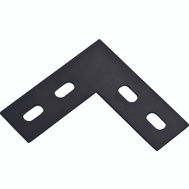 National Hardware N351-505 Flat Corner Plate 6-1/2 By 1-1/2 By 1/8 Inch Black Steel