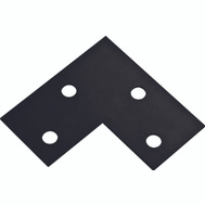 National Hardware N351-506 Flat Corner Plate 6 By 3 By 1/8 Inch Black Steel