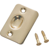 National Hardware N287-047 Ball Catch Strike Plate 2-1/4 Inch Polished Brass