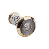 National Hardware N830-290 N287-095 UL Fire Rated Door Viewer 180 Degree Wide Angle 5/8 Hole Polished Brass