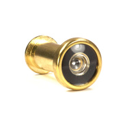 National Hardware N287-101 Proseries Door Viewer 5/8 Inch Hole 160 Degree Angle Polished Brass