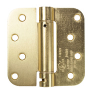 National Hardware N287-147 4 Inch 5/8 Radius Spring Door Hinge Satin Brass