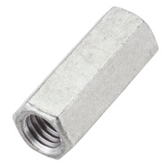 National Hardware N182-710 Threaded Rod Coupler 1/2 Inch 13 TPI Galvanized Steel