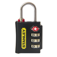 National Hardware S822-005 Stanley TravelMax TSA Approved 3 Digit Luggage Padlock 1-3/16 Inch (30Mm) Wide Black