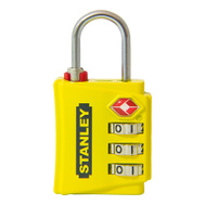 National Hardware S822-013 Stanley Travelmax TSA 3 Digit Luggage Padlock 1-3/16 Inch (30Mm) Wide Yellow
