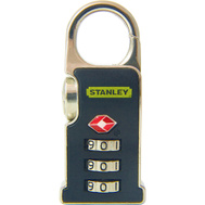 National Hardware S822-053 Stanley TravelMax TSA Approved 3 Digit Luggage Snap-N-Go Clip Padlock 1-3/16 Inch Black