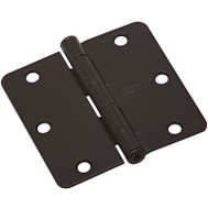 National Hardware N830-324 Door Hinges 3-1/2 Inch 1/4 Radius Oil Rubbed Bronze 3 Pack