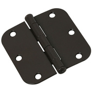 National Hardware N830-325 Door Hinges 3-1/2 Inch 5/8 Radius Oil Rubbed Bronze 3 Pack
