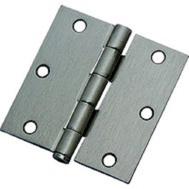 National Hardware N830-326 Door Hinges 3-1/2 Inch Square Corner Satin Nickel 3 Pack