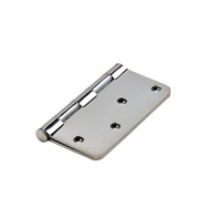 National Hardware N830-183 4 Inch 1/4 Radius Door Hinge Polished Chrome