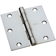 National Hardware N830-185 Door Hinge 3-1/2 Inch Square Corner Polished Chrome