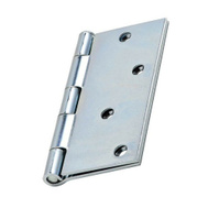 National Hardware N830-195 Door Hinge 4 Inch Square Corner Zinc
