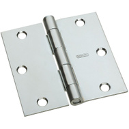 National Hardware N830-196 3 Inch Square Corner Door Hinge Zinc