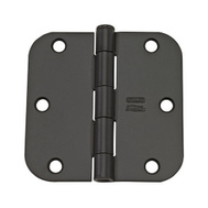 National Hardware N830-197 3-1/2 Inch 5/8 Radius Door Hinge Oil Rubbed Bronze