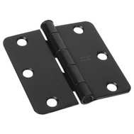 National Hardware N830-200 3-1/2 Inch 1/4 Radius Door Hinge Oil Rubbed Bronze