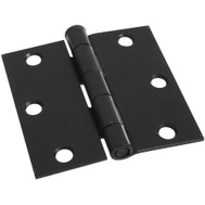 National Hardware N830-203 Door Hinge 3-1/2 Inch Square Corner Oil Rubbed Bronze