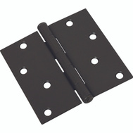 National Hardware N830-204 Door Hinge 4 Inch Square Corner Oil Rubbed Bronze