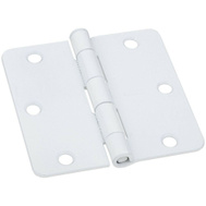 National Hardware N830-218 Door Hinge 3-1/2 Inch 1/4 Radius Prime Coat White