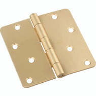 National Hardware N830-228 4 Inch 1/4 Radius Door Hinge Satin Brass