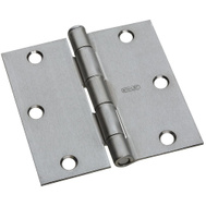 National Hardware N830-239 Door Hinge 3-1/2 Inch Square Corner Satin Chrome