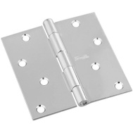 National Hardware N830-249 4 Inch Square Corner Door Hinge Satin Nickel