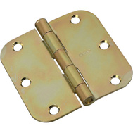 National Hardware N830-260 Door Hinge 3-1/2 Inch 5/8 Radius Brass Tone