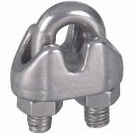 National Hardware N830-312 Wire Cable Clamp 1/8 Inch Stainless Steel Bulk