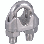 National Hardware N830-314 Wire Cable Clamp 1/4 Inch Stainless Steel Bulk