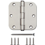 National Hardware S841-500 N612-061 Stanley 3-1/2 Inch 5/8 Radius Door Hinges Satin Nickel 12 Pack