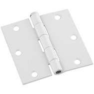 National Hardware N830-335 3-1/2 Inch Square Corner Door Hinges White 3 Pack
