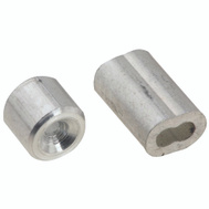 National Hardware N830-350 Ferrules And Stops Aluminum 1/16 Inch 2 Pack