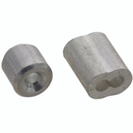 National Hardware N830-351 Ferrules And Stops Aluminum 3/32 Inch 2 Pack